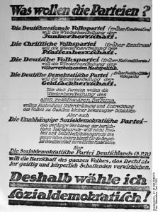 SPD, Reichstagswahl 1919Bundesarchiv, B 145 Bild-P046273 / Weinrother, Carl / CC-BY-SA