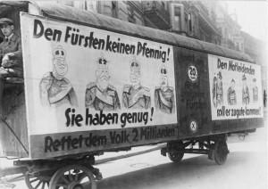 Volksbegehren zur Fürstenenteignung 1926, Propagandawagen - Bundesarchiv, Bild 102-00685 / CC-BY-SA
