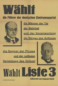 Zentrum, Reichstagswahl 1930, Konrad-Adenauer-Stiftung, KAS/ACDP 10-043 : 2 CC-BY-SA 3.0 DE