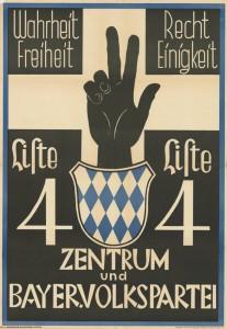 Zentrum / BVP, Reichstagswahl 1933, Konrad-Adenauer-Stiftung, KAS/ACDP 10-043:28 CC-BY-SA 3.0 DE