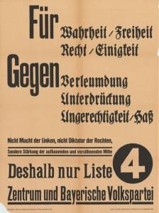 Zentrum / BVP, Reichstagswahl 1933, Konrad-Adenauer-Stiftung, KAS/ACDP 10-043: 23 CC-BY-SA 3.0 DE