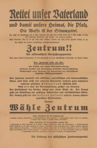 Zentrum, Reichstagswahl 1924 (Mai), KAS/ACDP 10-043 : 13 CC-BY-SA 3.0 DE