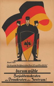 Zentrum / SPD / DDP, Reichstagswahl 1924, Konrad-Adenauer-Stiftung, KAS/ACDP 10-043 : 9 CC-BY-SA 3.0 DE