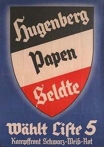 DNVP - Stahlhelm - Kampffront Schwarz-Weiß-Rot, Reichstagswahl 1933