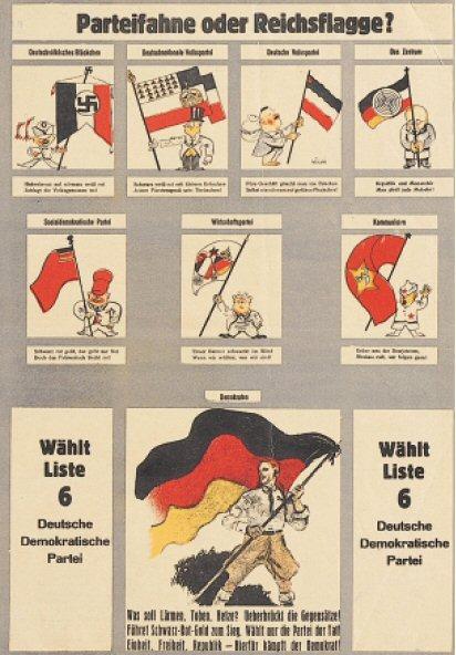 deutsche demokratische partei ddp wahlplakate in der. Black Bedroom Furniture Sets. Home Design Ideas