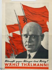 KPD, Reichspräsidentenwahl 1932. Quelle: Stiftung Schloß Friedenstein Gotha: Museum für Regionalgeschichte und Volkskunde [CC BY-NC-SA]