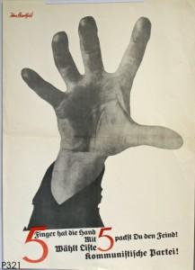 KPD, Reichstagswahl 1928. Quelle: Stiftung Schloß Friedenstein Gotha: Museum für Regionalgeschichte und Volkskunde [CC BY-NC-SA]