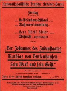 NSDAP, Parteiversammlung 1921