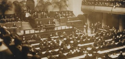 Erste Sitzung des Völkerbundes, 15. November 1920 in Genf