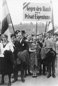 Demonstration gegen die Fürstenenteignung in Berlin, 1926, Bundesarchiv Bild 102-02779 / CC-BY-SA 3.0