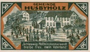Volksabstimmung in Zone II auf einem zeitgenössischen Notgeldschein, 1921