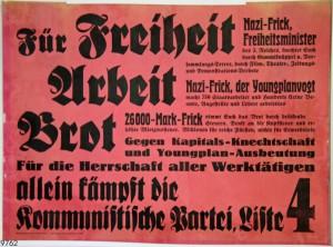 KPD, Landtagswahl Thüringen 1932. Quelle: Stiftung Schloß Friedenstein Gotha: Museum für Regionalgeschichte und Volkskunde [CC BY-NC-SA]